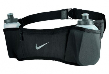 Nike Double Pocket Flask Hydration Belt with 2 bottles 300ml / Black