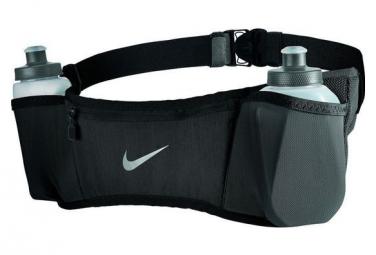 Ceinture d'Hydratation Nike Double Pocket Flask avec 2 bidon 300ml / Noir