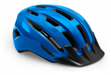 Casco Met Downtown Shiny Blue 2021 L Xl  58 61 Cm