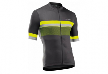 Maillot Manches Courtes Northwave Blade Gris / Jaune Fluo