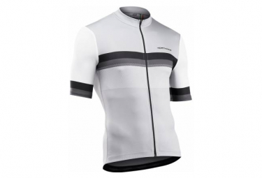 Maillot Manches Courtes Northwave Blade Blanc / Gris