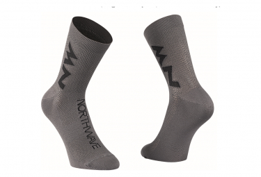 Calcetines Northwave Extreme Air Mid Gris   Negro 44 47