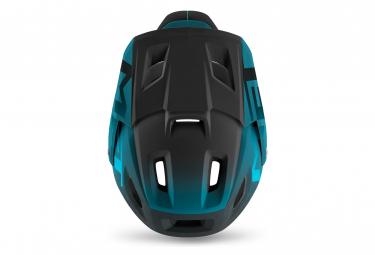 Casque intégral Met Parachute MCR Mips avec mentonnière amovible Bleu Petrol Mat Brillant 2021