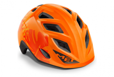 2021 Met Elfo Casco Infantil Naranja Jungle Shiny 46 53 Cm