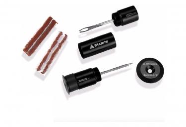 Kit de Réparation Tubeless Granite Design Avec Embouts de Guidon Noir + 4 Mèches