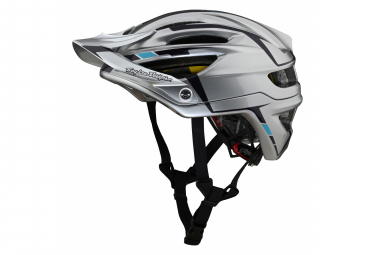 Casque All Mountain Troy Lee Designs A2 Mips Silver Argent / Rouge 2021