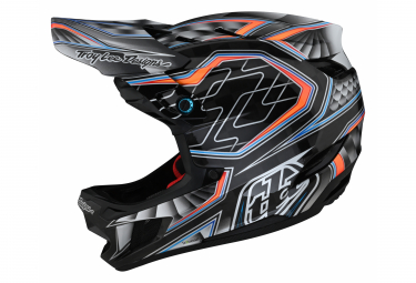 Casco Integral Troy Lee Designs D4 Carbon Low Rider Gris   Naranja 2021 M  57 58 Cm