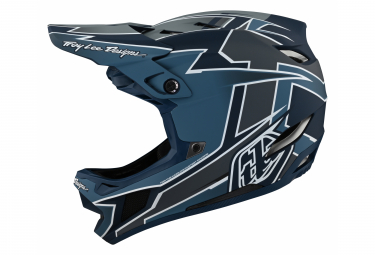 Casque Integral Troy Lee Designs D4 COMPOSITE GRAPH Bleu 2021