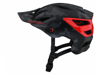 Troy Lee Designs A3 MIPS CAMO All Mountain Helmet Gray / Red 2021