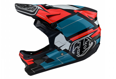 Troy Lee Designs D3 FIBERLITE VERTIGO Integral Helmet Blue / Red 2021