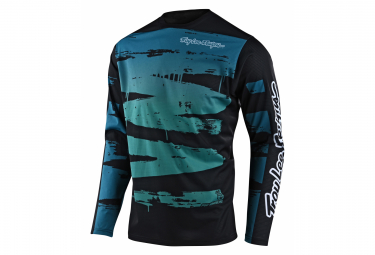 Maillot Manches Longues Troy Lee Designs SPRINT BRUSHED Bleu/Turquoise