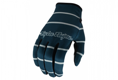 Gants Troy Lee Designs FLOWLINE STRIPE Bleu Gris