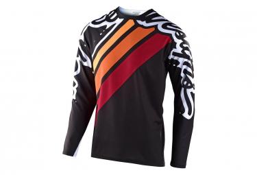 Maglia a maniche lunghe Troy Lee Designs Sprint Seca 2.0 Nera / Bordeaux