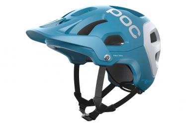 Casco MTB Poc Tectal Race Spin Blu / Bianco opaco 2021