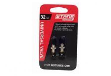 Stan's NoTubes - Valve Stem Pair, Universal, Schrader, 32mm 10mm Base