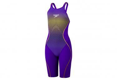 Speedo Fastskin LZR Pure Valor Openback Kneeskin Swimsuit Purple