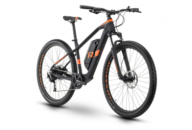 VTT Électrique Semi-Rigide R Raymon HardRay E-Nine 2.0 Shimano Altus 9V 400 Wh 29'' Noir Orange 2021