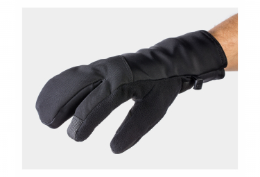 Guantes Bontrager Velocis Split Finger Softshell Largos Negros S