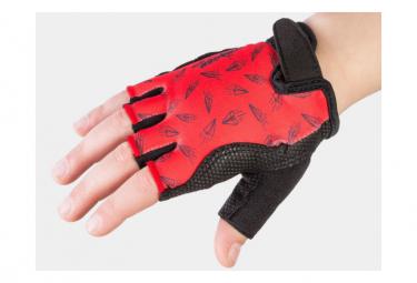 Bontrager Kids Medium Gloves Paper Airplane Rojo   Rojo Kid L