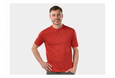 Bontrager Adventure Henley Mars Camiseta Roja Xs