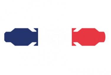 Image of Autocollant drapeau france