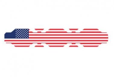 Image of Autocollant drapeau etats unis