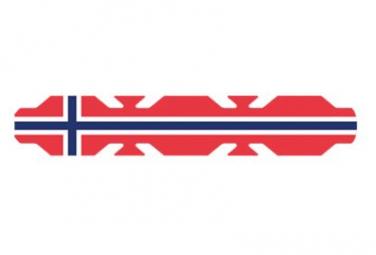 Image of Autocollant drapeau norvege