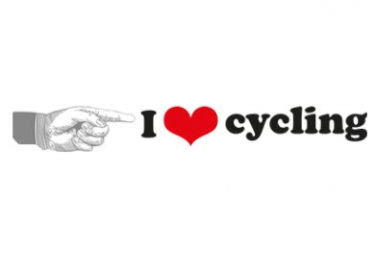 Image of Autocollant i love cycling