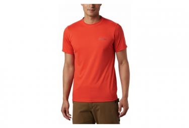 Columbia Zero Rules Camiseta Naranja De Manga Corta Para Hombre Xl