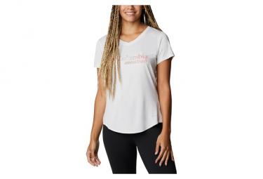 Camiseta Columbia W Trinity Trail Ii Graphic Blanco Mujer Xs