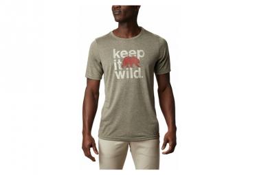 Camiseta De Manga Corta Columbia Terra Vale Ii Verde Hombre M