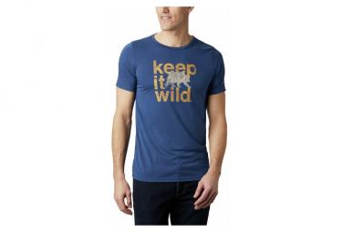 Camiseta De Manga Corta Columbia Terra Vale Ii Azul Para Hombre L