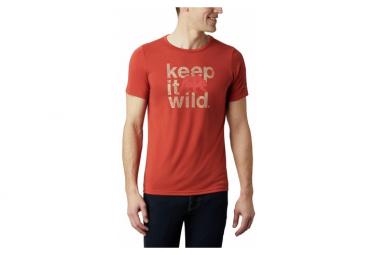 Camiseta De Manga Corta Columbia Terra Vale Ii Rojo Hombre L