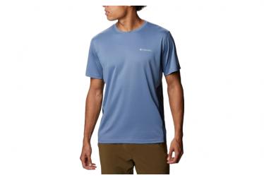 Camiseta Columbia M Zero Ice Cirro Cool Manga Corta Azul Hombre S