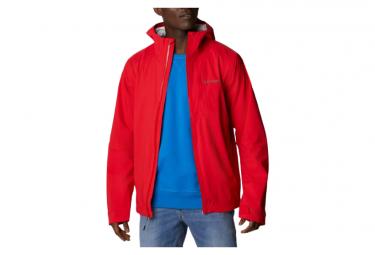 Chaqueta Impermeable Columbia Omni Tech Ampli Dry Shell Rojo Hombre S