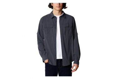 Camisa De Manga Larga Columbia Newton Ridge Eu Negro Hombre Xl