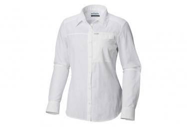 Camisa De Manga Larga Columbia Silver Ridge Eu 2 0 Blanco Mujer Xs