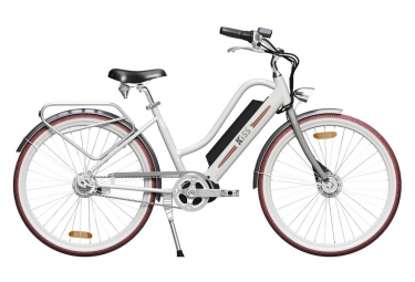 Image of Velo de ville electrique kiss ebikes city fat gris quartz guidon hollandais 2021