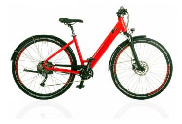 Vélo de Ville Électrique Elan Tempo Shimano Alivio 9V 500 Rouge 2021