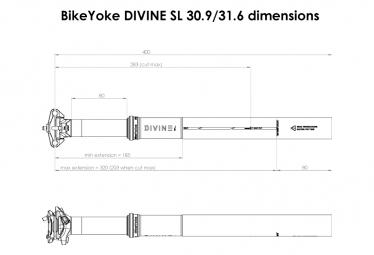 Tige de Selle Téléscopique Bike Yoke Divine SL (sans commande)