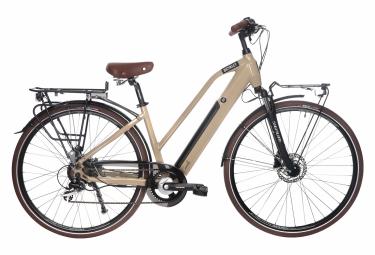 Vélo de Ville Électrique Bicyklet Camille Shimano Acera/Altus 8V 504 Wh 700 mm Beige Ivoire 2021