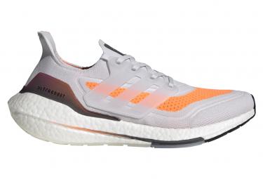 Zapatillas Adidas Ultraboost 21 Blanco Naranja Rosado Hombre 42 2 3