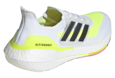 Chaussures de Running adidas running UltraBoost 21 Blanc / Jaune