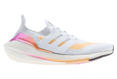 Chaussures de Running Femme adidas running UltraBoost 21 Blanc / Orange
