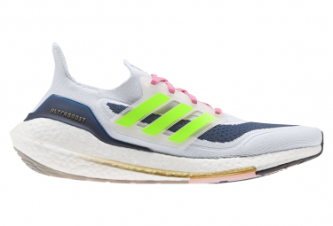 Adidas Ultraboost 21 Blancas Hombre Zapatillas Running 44 2 3