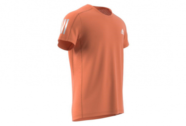 Maillot manches courtes adidas Own The Run Orange Homme