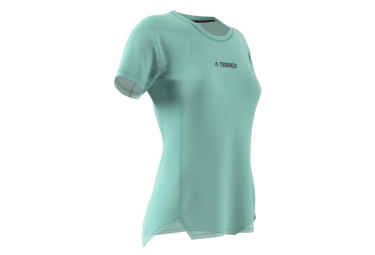 Camiseta Adidas Terrex Agravic Manga Corta Verde Mujer M