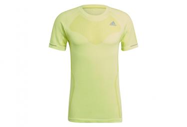 Adidas Primeknit Short Sleeve Jersey Amarillo Hombre M