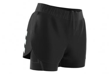 Pantalon Corto 2 En 1 Azul Adidas Run Prime Mujer Xs
