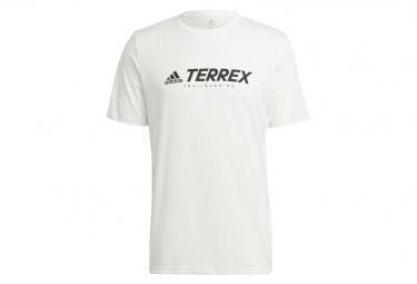Maillot manches courtes adidas Terrex Trail Logo Blanc Homme
